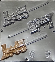 238 Train Lollipop Chocolate Candy Mold