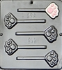 248 Cat's Paw Print Lollipop Chocolate Candy Mold