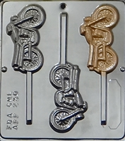250 Motorcycle Lollipop Chocolate Candy Mold