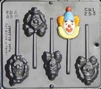 253 Clowns Lollipop Chocolate Candy Mold