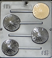 255 Sand Dollar Lollipop Chocolate Candy Mold