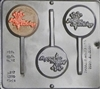 264 Happy Birthday Lollipop Chocolate Candy Mold