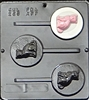 266 Cat Lollipop Chocolate Candy Mold