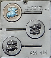 267 Dog Lollipop Chocolate Candy Mold
