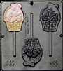 287 Flower Basket Lollipop Chocolate Candy Mold