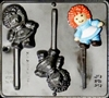 292 Raggedy Ann Lollipop Chocolate Candy Mold