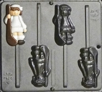 297 Field Hockey Player Lollipop Chocolate Candy Mold
