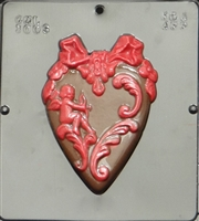 3006 Heart with Cupid Chocolate Candy Mold