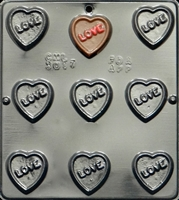 3017 Love on Heart Pieces Chocolate