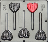 3026 Lattice Heart Pop Lollipop