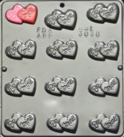 3036 Be Mine on Double Hearts 