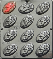 3038 Cupid on Oval Pieces Chocolate