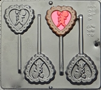 3044 Heart with Cupid Pop Lollipop