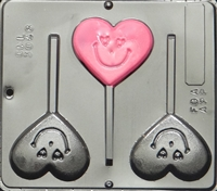 3048 Heart with Smiley Face Lollipop Chocolate Mold