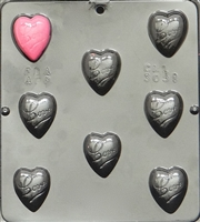 3051 Heart with Love Chocolate Candy Mold