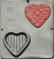 3056 Heart Decorative Box Chocolate Candy Mold