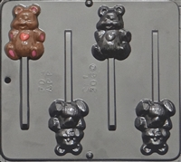 3060 Bear with Heart Pop Lollipop Chocolate Candy Mold