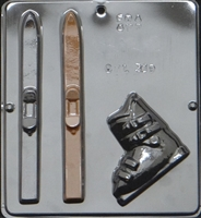 319 Skis & Boot Chocolate Candy Mold