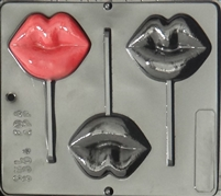 3304 Lips Lollipop Chocolate Candy Mold