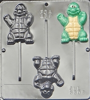 3308 Ninja Turtle Lollipop Chocolate Candy Mold