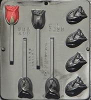 3329 Rose Assembly Lollipop Chocolate Candy Mold