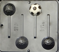 3340 Soccer Ball Lollipop Chocolate Candy Mold