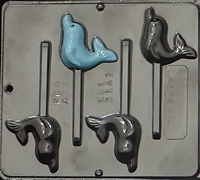 3341 Dolphin Lollipop Chocolate Candy Mold