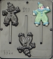 3344 Clown Lollipop Chocolate Candy Mold