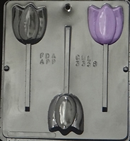 3358 Tulip Lollipop Chocolate Candy Mold