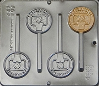 3367 Basketball Pop Lollipop Chocolate Candy Mold