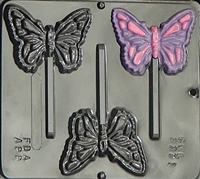 3371 Butterfly Lollipop Chocolate Candy Mold