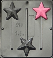 3374 Star Lollipop Chocolate Candy Mold