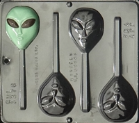 3376 Alien Lollipop Chocolate Candy Mold