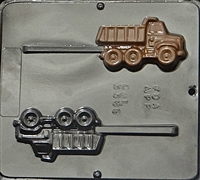3389 Dump Truck Lollipop Chocolate Candy Mold