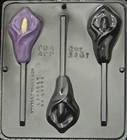 3401 Calla Lily Lollipop Chocolate Candy Mold