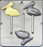 3403 Pelican Lollipop Chocolate Candy Mold