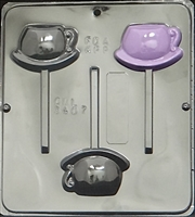 3407 Tea Cup Lollipop Chocolate Candy Mold
