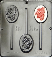 3415 Dragon Lollipop Chocolate Candy Mold
