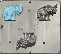 3421 Elephant Lollipop Chocolate Candy Mold