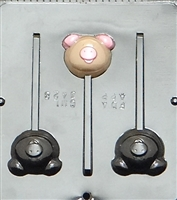 3428 Pig Lollipop Chocolate Candy Mold