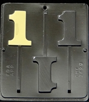 3429 Number 1 Lollipop Chocolate Candy Mold