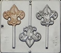 3433 Boy Scout Lollipop Chocolate Candy Mold