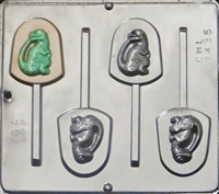 3435 Dinosaur Raptor Jurassic World Lollipop Chocolate Candy Mold