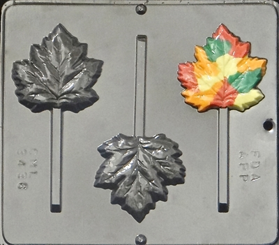 3436 Maple Leaf/Fall/Autumn Lollipop Chocolate Candy Mold