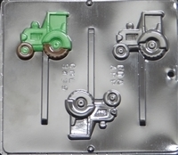 3439 Tractor Lollipop Chocolate Candy Mold
