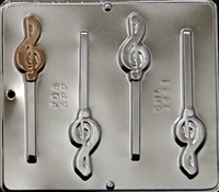 3441 G Clef Musical Lollipop Chocolate Candy Mold