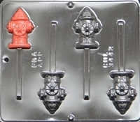 3442 Fire Hydrant Lollipop Chocolate Candy Mold