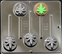 3443  Marijuana Leaf Pot Leaf Lollipop Candy Mold