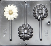 3448 Daisy Flower Lollipop Chocolate Candy Mold