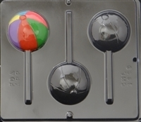 3449 Beach Ball Lollipop Chocolate Candy Mold